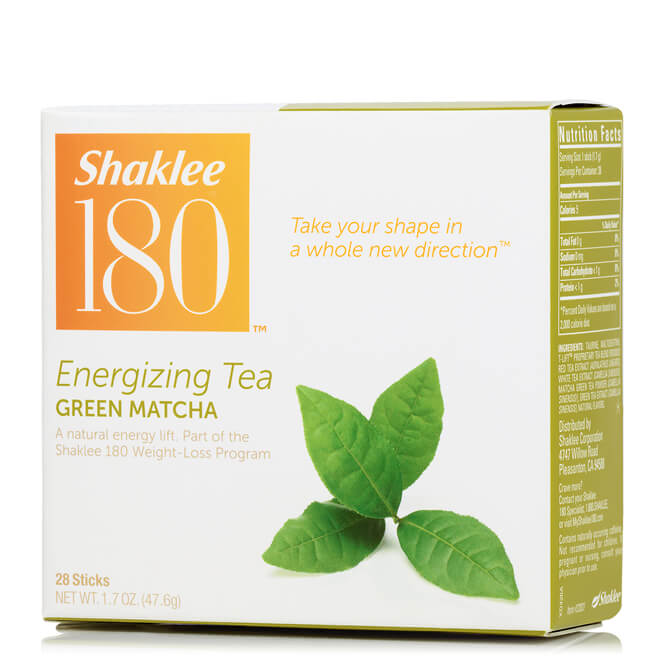 Shaklee 180 Energizing Tea,Green Matcha,28 Sticks