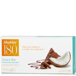 Shaklee 180® Snack Bar, Chocolate & Coconut, 10 per box