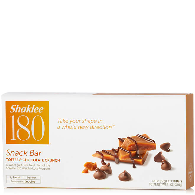 Shaklee 180® Snack Bar, Toffee Chocolate Crunch, 10 per box